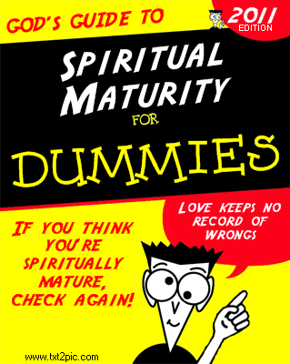 Spiritual Maturity for Dummies